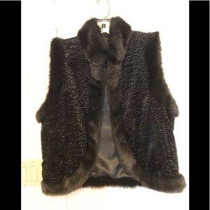 Adore | Fabulous Faux Fur Black Vest Lined | S